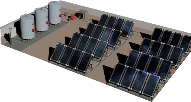 Solar water heating System hrsfunke